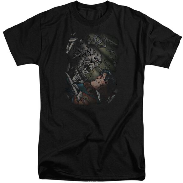 Superman Epic Battle Short Sleeve Adult Tall T-Shirt