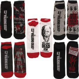 Walking Dead FDFL Hand Mens 5 Pk Low Socks Set