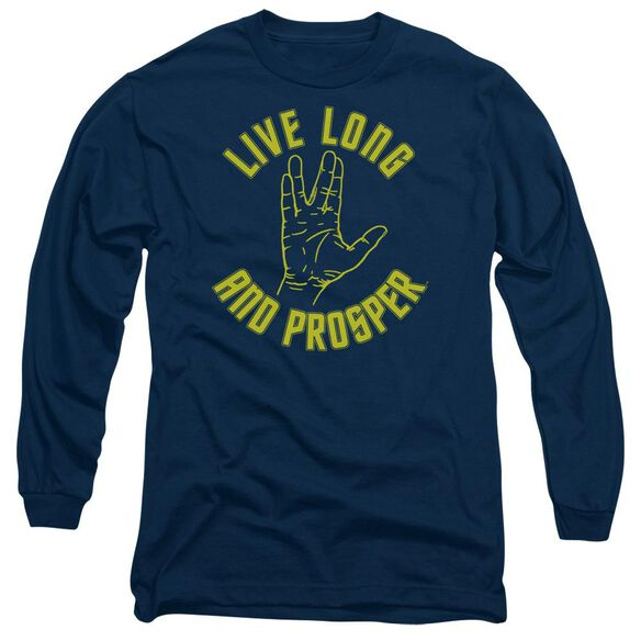 Star Trek Live Long Hand Long Sleeve Adult T-Shirt