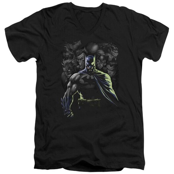 Batman Villains Unleashed Short Sleeve Adult V Neck T-Shirt