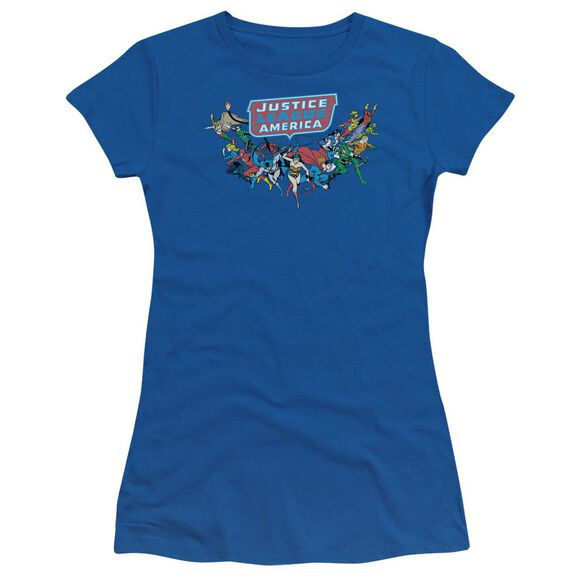 Dc Here They Come Short Sleeve Junior Sheer Royal T-Shirt
