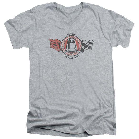 Chevrolet Gentlemen's Racer Short Sleeve Adult V Neck Athletic T-Shirt