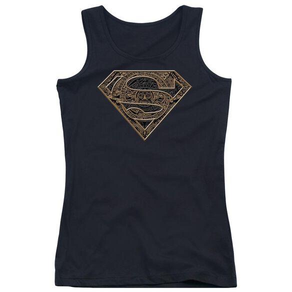 Superman Aztec Shield Juniors Tank Top