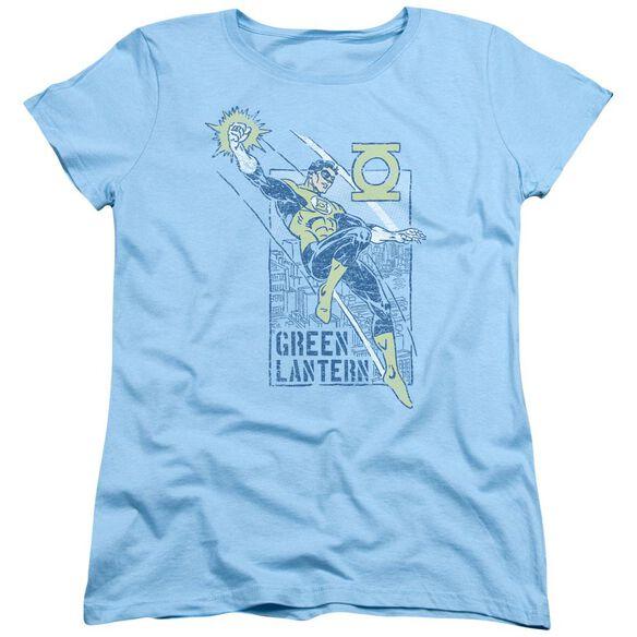 Green Lantern City Watch Short Sleeve Womens Tee Light T-Shirt