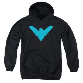 Batman Nightwing Symbol-youth Pull-over Hoodie - Black