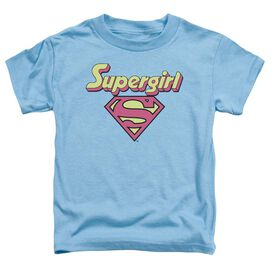 Dc I'm A Supergirl Short Sleeve Toddler Tee Carolina Blue Lg T-Shirt