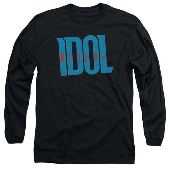 Billy Idol Logo Long Sleeve Adult T-Shirt