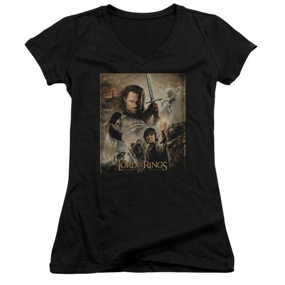 Lor Rotk Poster Junior V Neck T-Shirt