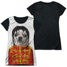 Pets Rock Pop Short Sleeve Junior Poly Black Back T-Shirt