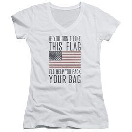 Pack Your Bag Junior V Neck T-Shirt