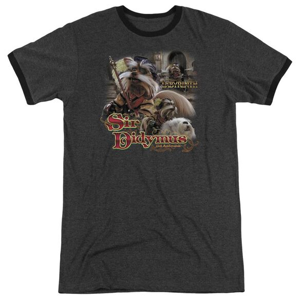 Labyrinth Sir Didymus Adult Heather Ringer Charcoal