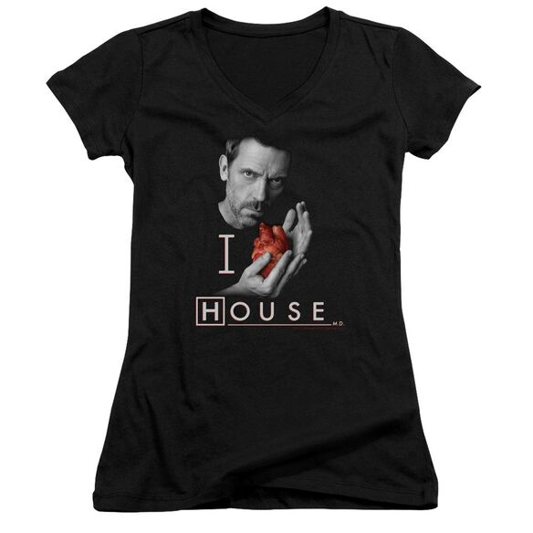 House I Heart House Junior V Neck T-Shirt