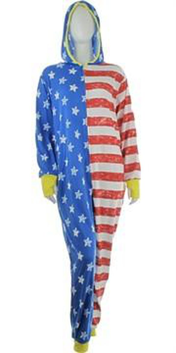 Wonder Woman Stars and Stripes Hooded Union Suit