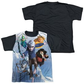 Rise Of The Guardians Together Now Short Sleeve Youth Front Black Back T-Shirt
