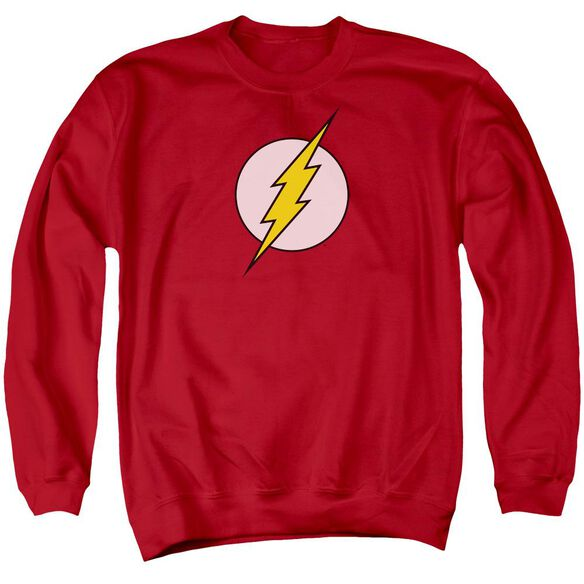 Dc Flash Logo Adult Crewneck Sweatshirt