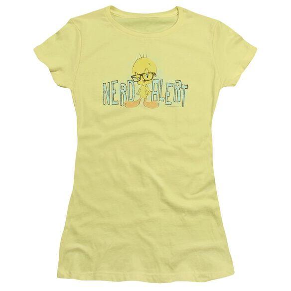 Looney Tunes Nerd Alert Short Sleeve Junior Sheer T-Shirt