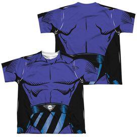 Phantom Phantom Costume (Front Back Print) Short Sleeve Youth Poly Crew T-Shirt