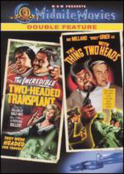 """Double Feature """"The Thing With Two Heads & Two-Headed Transplant. New Sealed DVD"""
