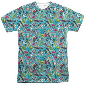 Teen Titans Go Pattern Short Sleeve Adult Poly Crew T-Shirt