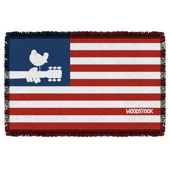 Woodstock Flag Woven Throw