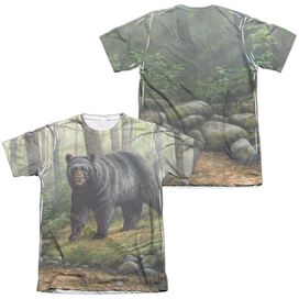Wild Wings Woodland Morning (Front Back Print) Adult Poly Cotton Short Sleeve Tee T-Shirt