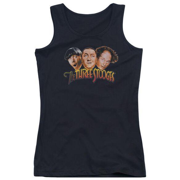Three Stooges Three Head Logo Juniors Tank Top
