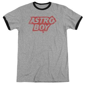 Astro Boy Logo Adult Ringer Heather Black