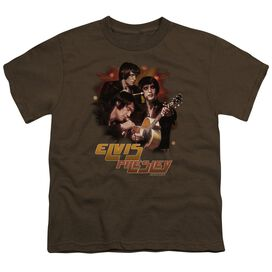 ELVIS PRESLEY HYPED - S/S YOUTH 18/1 - COFFEE T-Shirt