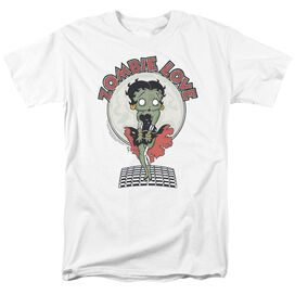Betty Boop Breezy Zombie Love Short Sleeve Adult White T-Shirt