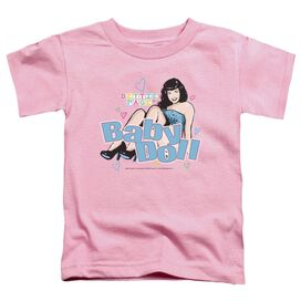 Bettie Page Baby Doll Short Sleeve Toddler Tee Pink Md T-Shirt