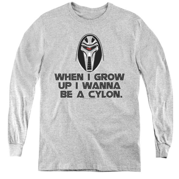 Bsg Grow Up Cylon-youth Long Sleeve