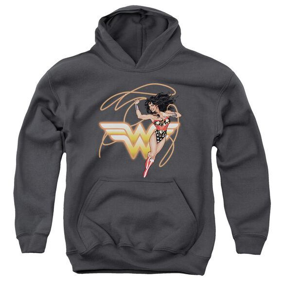 Jla Glowing Lasso Youth Pull Over Hoodie