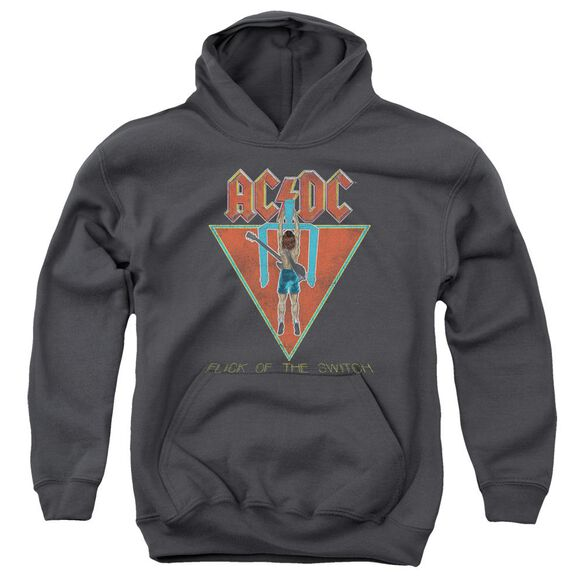 Acdc Flick Of The Switch Youth Pull Over Hoodie