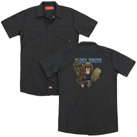 Judge Dredd Smile Scumbag (Back Print) Adult Work Shirt