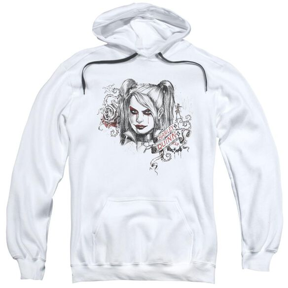 Batman Arkham Knight Sketchy Girl Adult Pull Over Hoodie