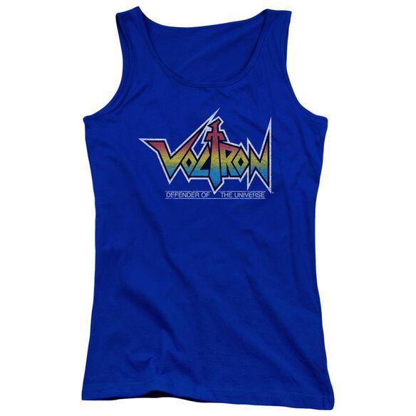 Voltron Logo - Juniors Tank Top - Royal Blue