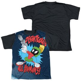 Looney Tunes Disintegrate Short Sleeve Youth Front Black Back T-Shirt