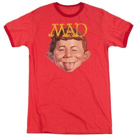 Mad Absolutely Mad Adult Heather Ringer Red
