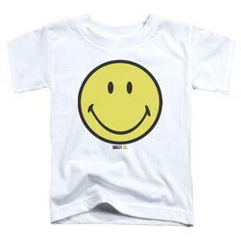 Smiley World Basic Smiley Short Sleeve Toddler Tee White T-Shirt