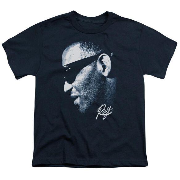 Ray Charles Blue Ray Short Sleeve Youth T-Shirt