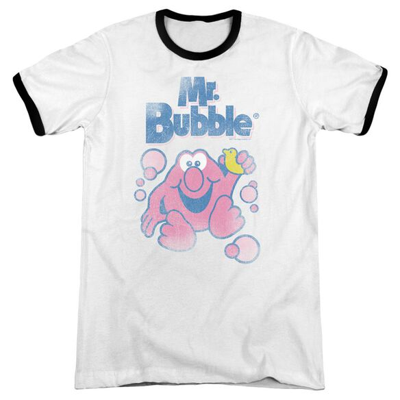 Mr Bubble 80 S Logo Adult Ringer White