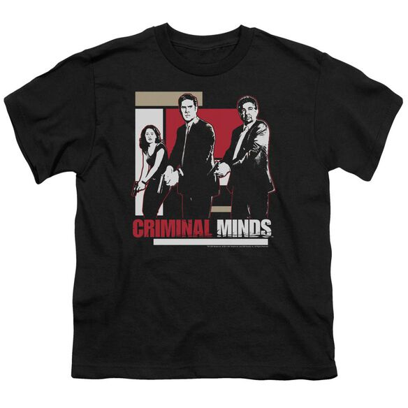 Criminal Minds Guns Drawn Short Sleeve Youth T-Shirt