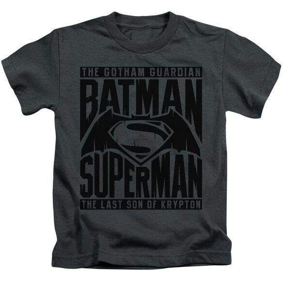 Batman V Superman Title Fight Short Sleeve Juvenile T-Shirt