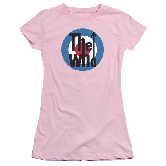 The Who Logo Short Sleeve Junior Sheer T-Shirt