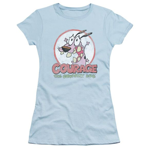 Courage The Cowardly Dog Vintage Courage Short Sleeve Junior Sheer Light T-Shirt