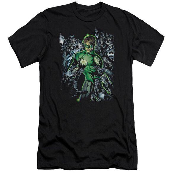 Green Lantern Surrounded By Death-premuim Canvas Adult Slim