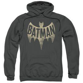 Batman Classic Tv Vintage Logo Adult Pull Over Hoodie