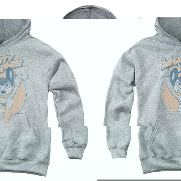 Mighty Mouse Flying With Purpose-youth Pull-over Hoodie - Heather