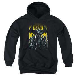 Justice League Movie Stand Up To Evil Youth Pull Over Hoodie