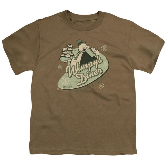 POPEYE WIMPYS DINER - S/S YOUTH 18/1 - SAFARI GREEN T-Shirt